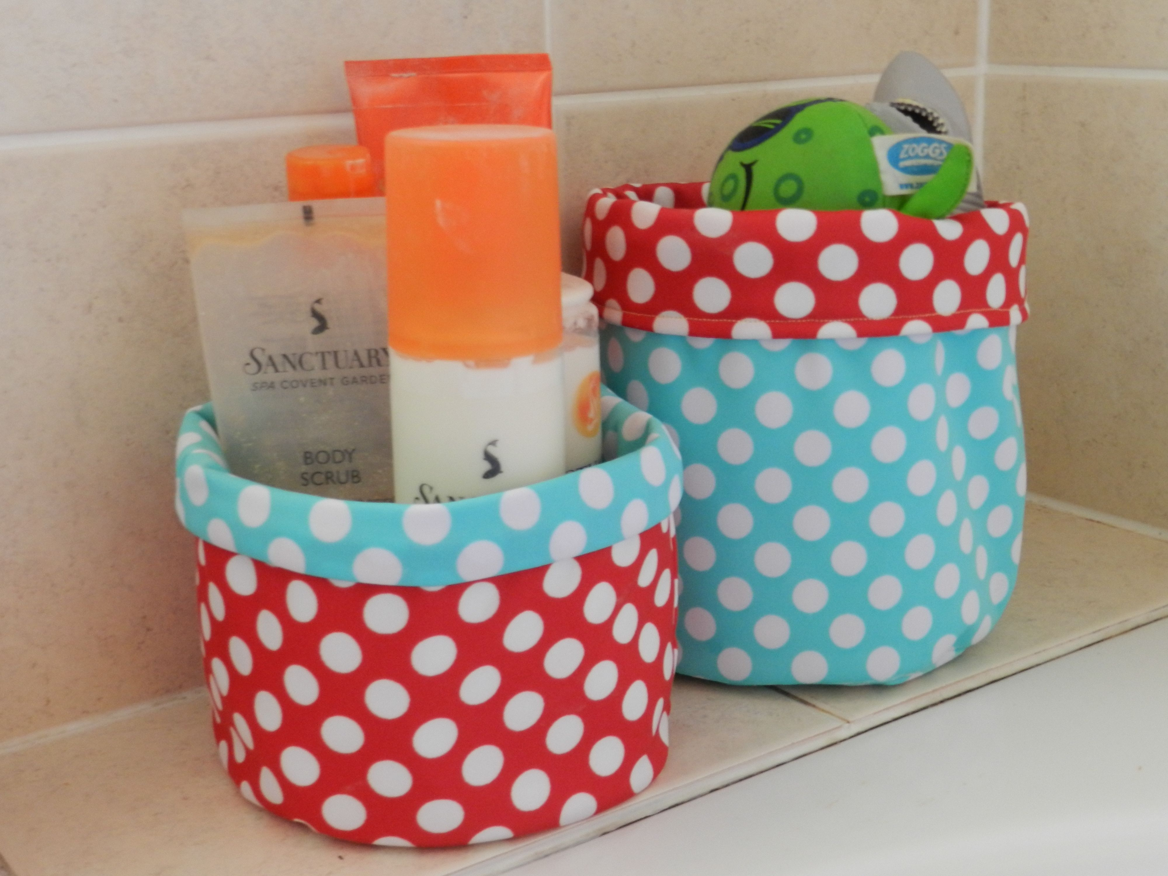 Reversible Waterproof Storage Baskets Free Pattern Prints To Polka Dots Blog