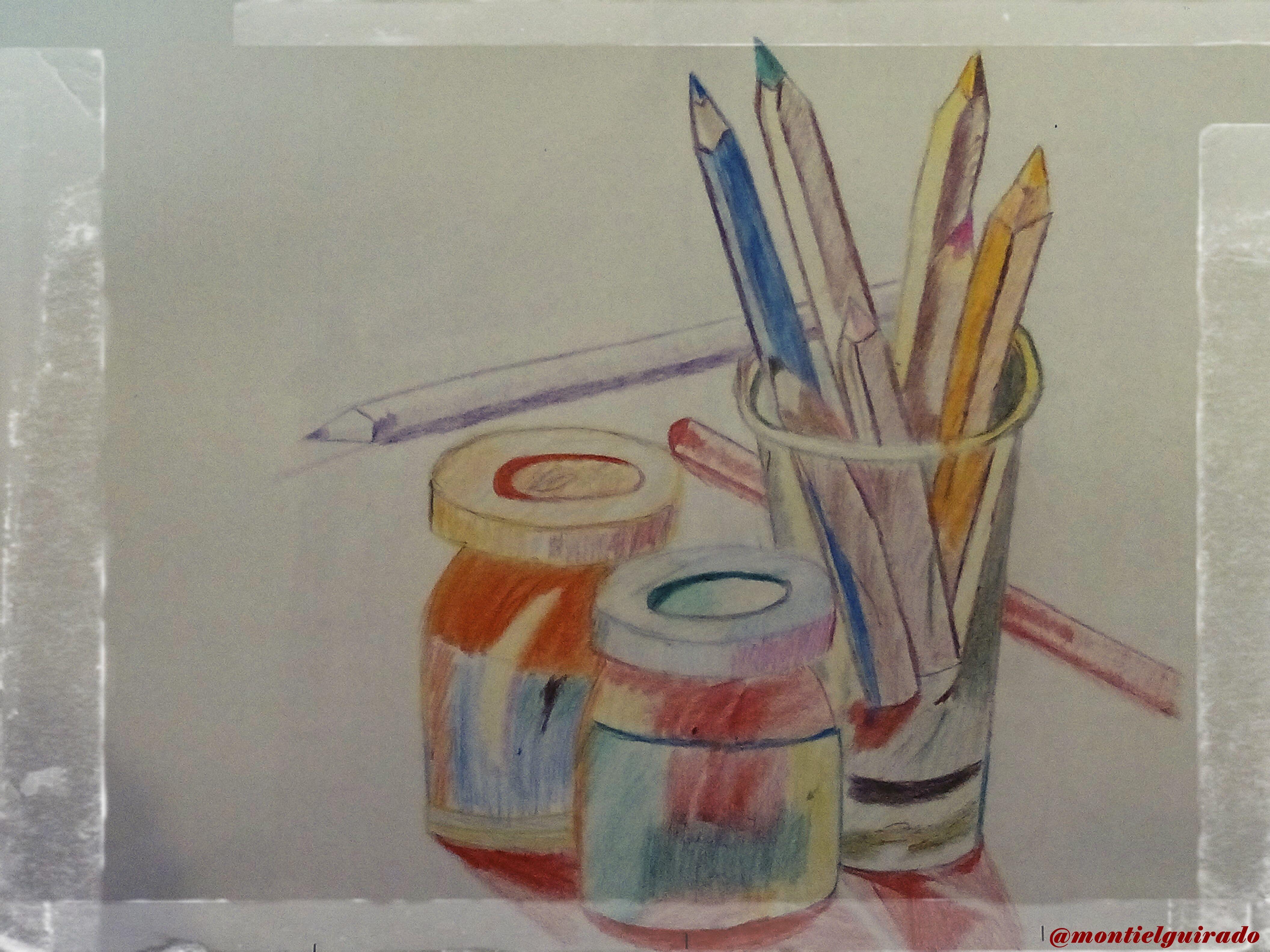 Utensilios de dibujo Pintado con lpices de colores  dibujos
