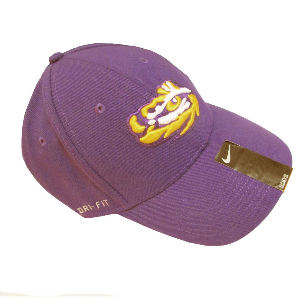 new products 2e9a2 3daa6 ... uk nike mens lsu tigers swooshflex dri fit fitted hat size m l nike  f25c7 972a8