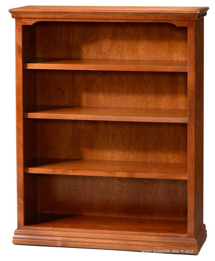 California Made Alder Wood Traditional Bookcase 36w X 48h In Antique Cherry Finish Traditional Bookcases Alder Wood Bookcase