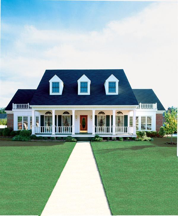 Cape Cod Colonial Country Southern House Plan 98369 House plans