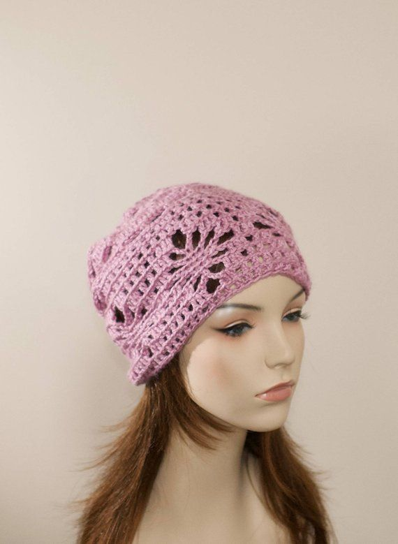 c7284d016d1 Spring Slouchy Beanie Women Hat Slouchy Beanie Summer Hat Chemo Hat CHOOSE  COLOR Peony Pink Chemo Sl