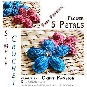 5 petal flower free crochet pattern crochet flower and flower 5 petal flower free crochet pattern crochet flower and flower patterns dt1010fo