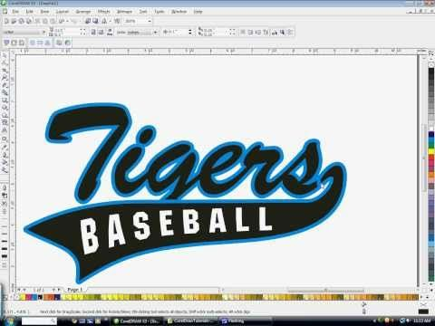 How to create athletic text with a tail in CorelDraw with ...