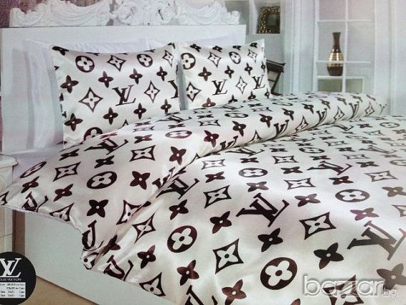 Louis Vuitton Luxury Bed Set Queen Size 6 Pieces By Luxurybedroom