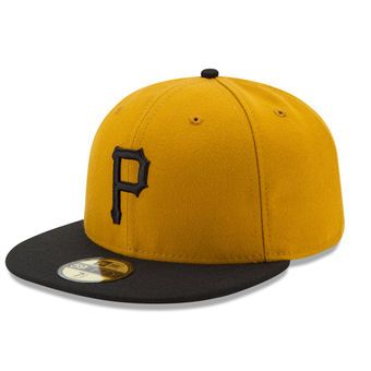 Men s Pittsburgh Pirates New Era Gold Turn Back the Clock 1971 Celebration 59FIFTY  Fitted Hat 9b2454d59dc6
