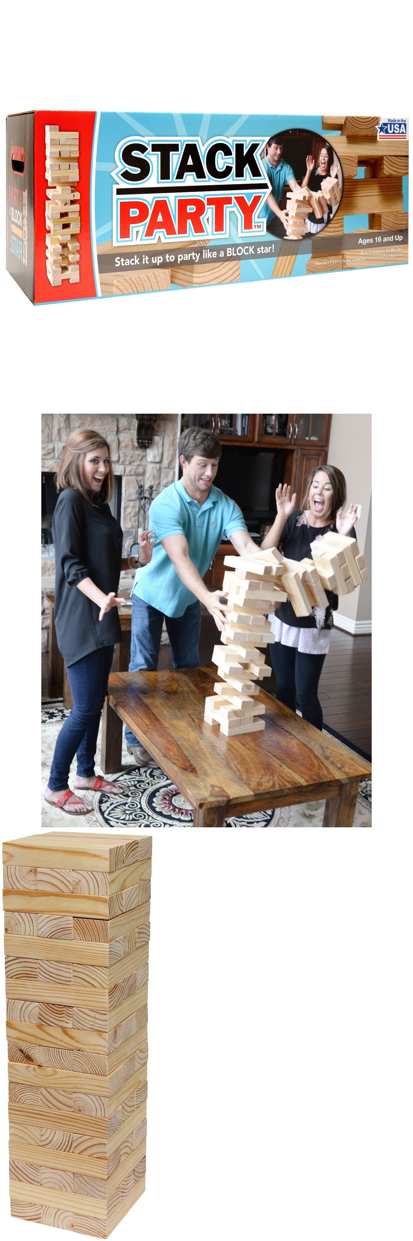 Other Backyard Games Stack Party Giant Tumbling Tower Game