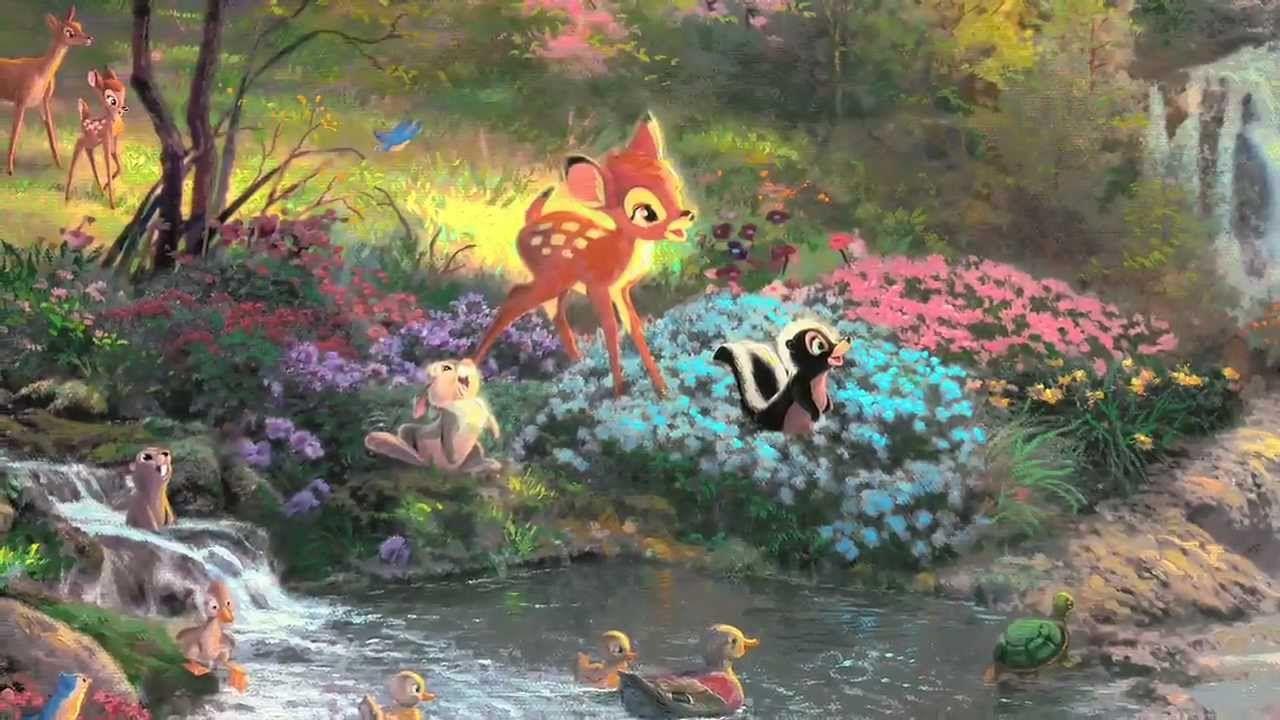 Bambi S First Year By Thomas Kinkade Youtube Fairy