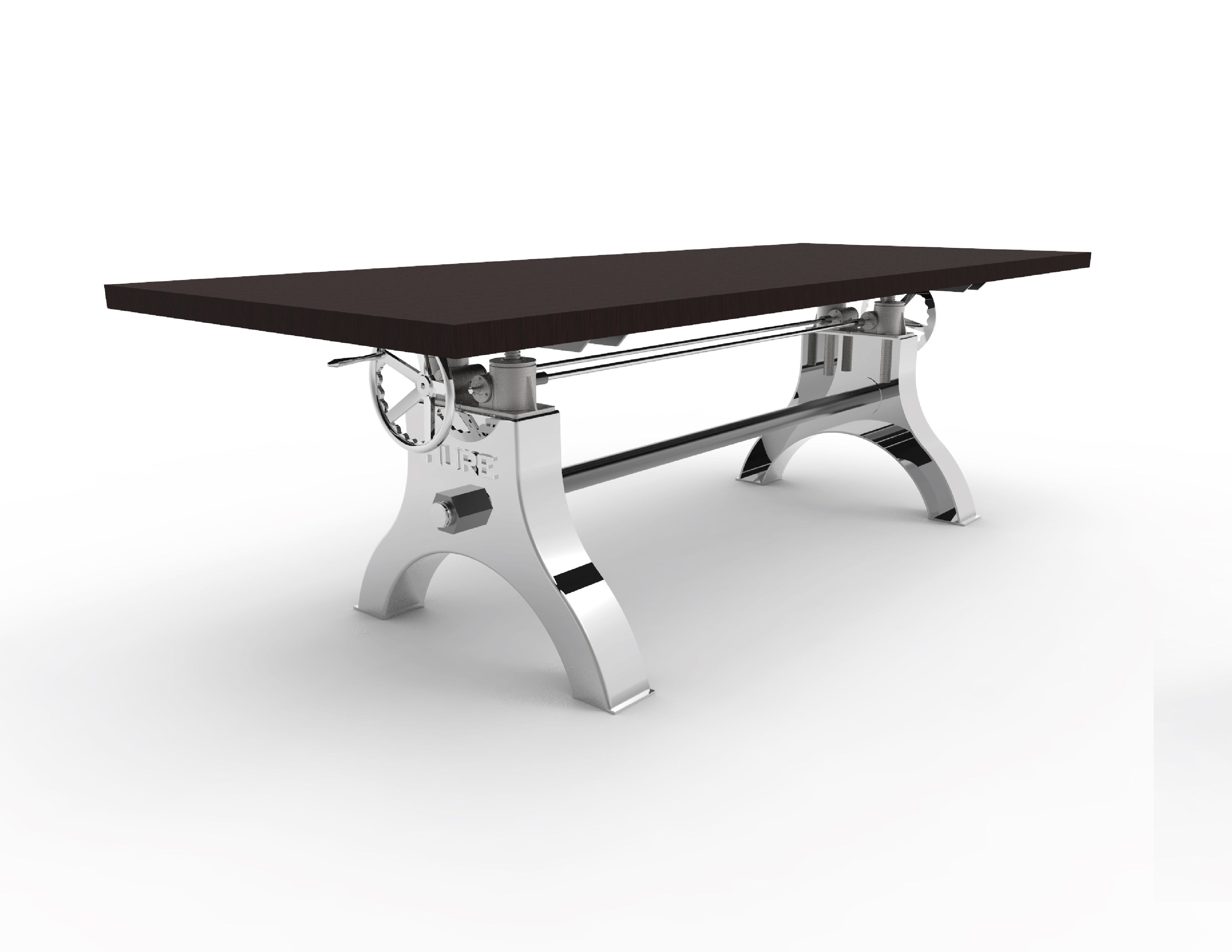 Adjustable industrial dining table - Hure Crank Table Vintage Industrial Furnitureindustrial Deskadjustable