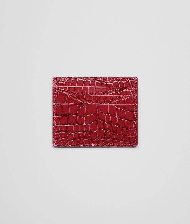 Cobalt Blue Crocodile Card Case Products Bottega Veneta