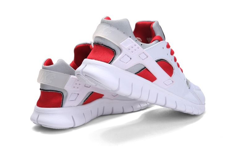 Nike Huarache Free 2012 Runs White Team Red Grey