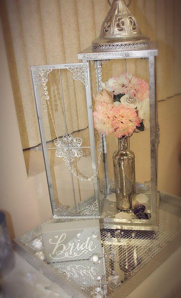 decoration piece lantern vintage for bridal shower or wedding silver winter wonderland bridal decorations