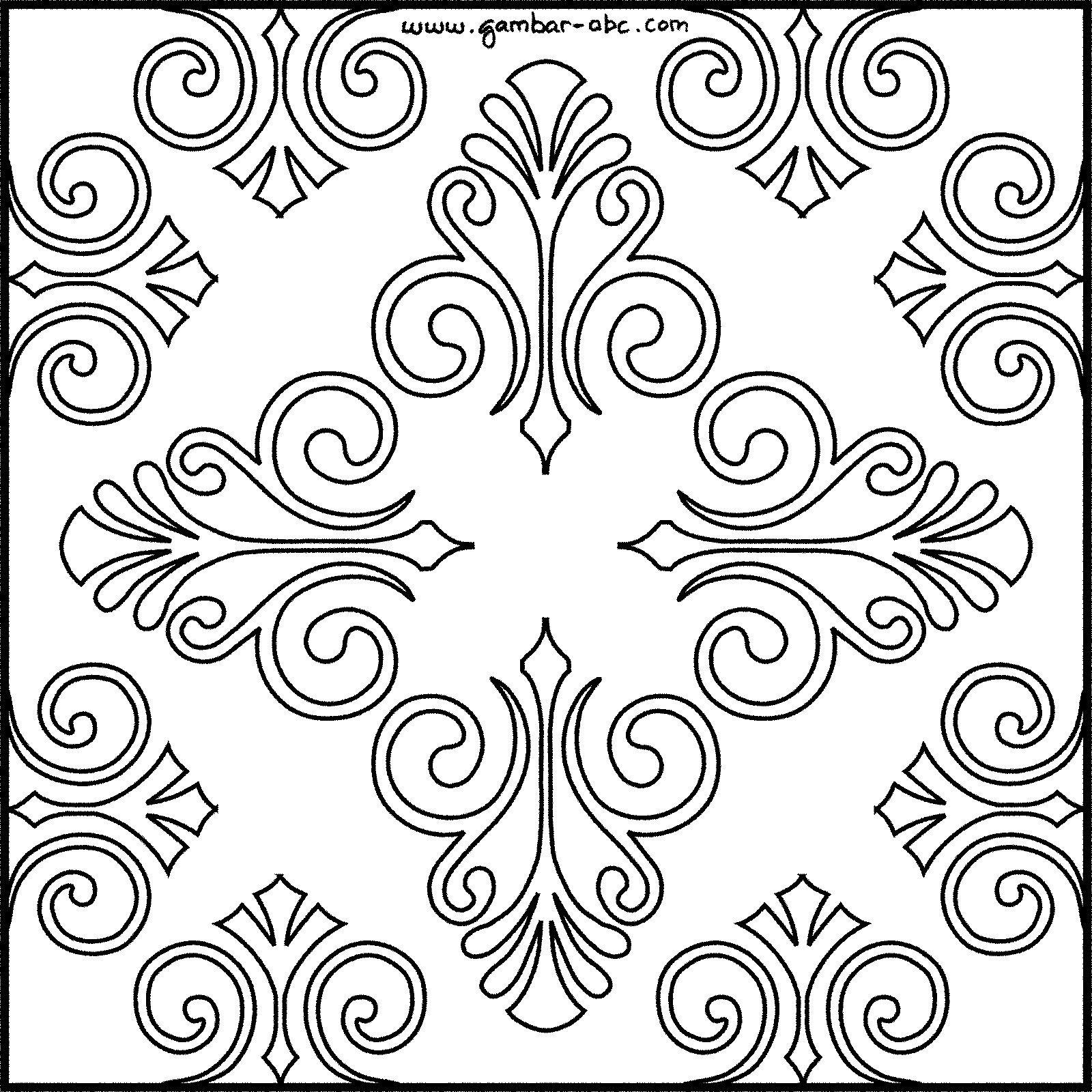 Gambar Motif Batik Bunga Sketsa Gambar Motif Batik Sederhana Batik ...