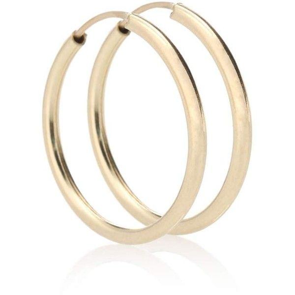 Medium Thick Tube Hoops 10kt gold earrings Loren Stewart O3q2S