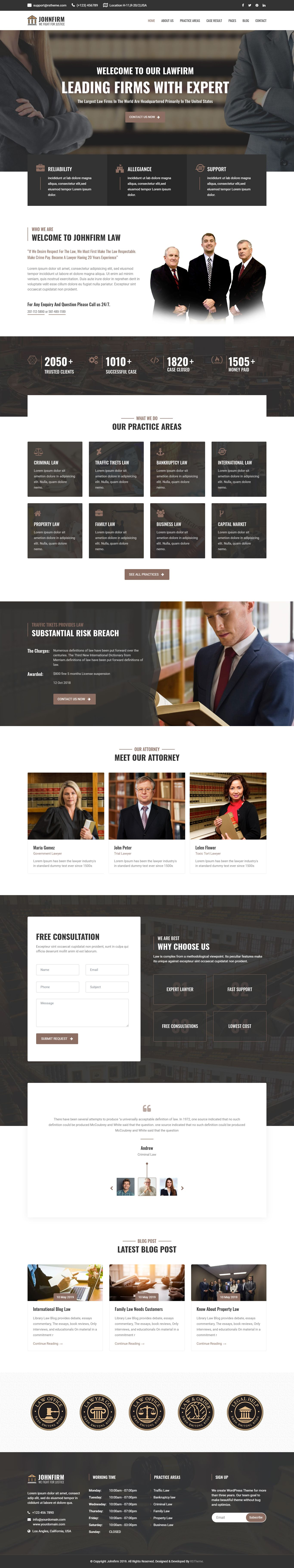 Johnfirm Lawyer & Lawfirm Joomla Template Joomla