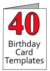40th Birthday Cards Free Printable : birthday, cards, printable, Birthday, Greeting, Templates, Cards,, Cards
