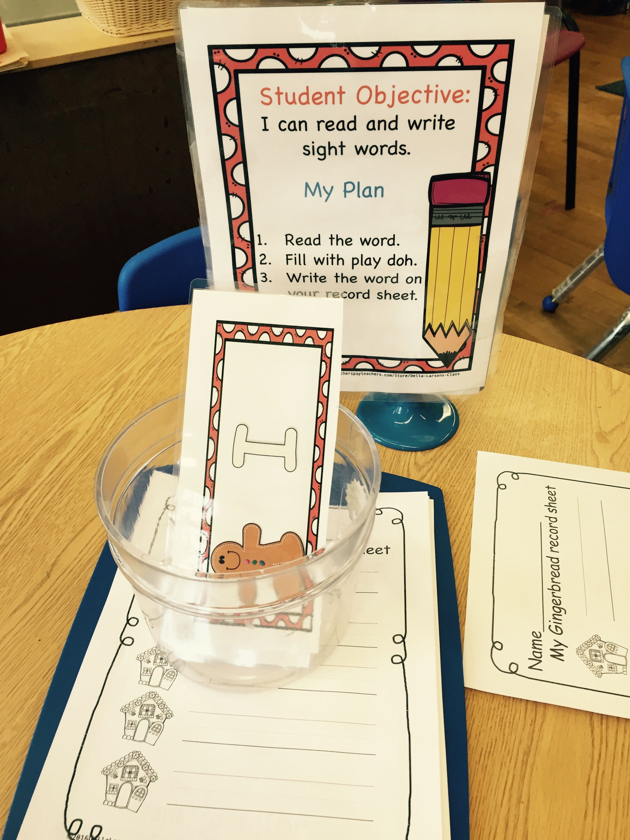 Gingerbread Word Work Center For Sight Words Hands On