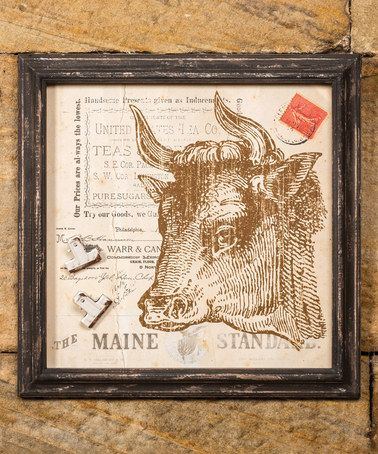 Cow Magnetic Wall Décor Zulily Zulilyfinds
