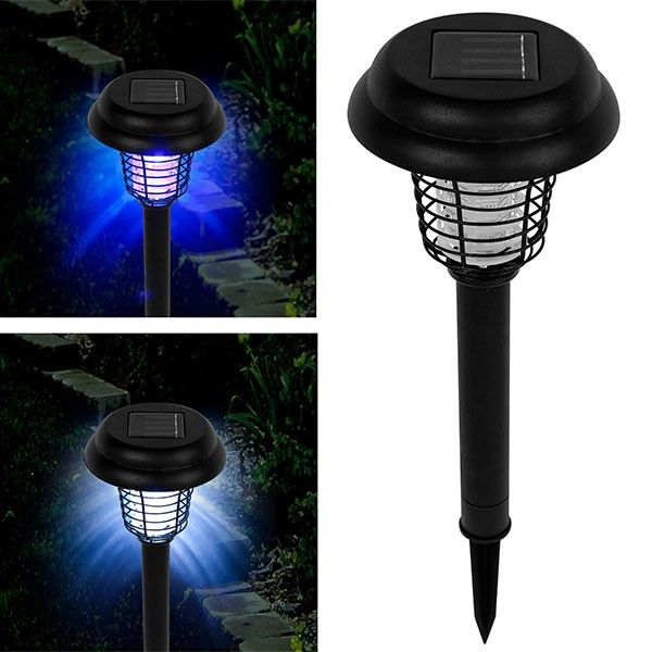 Light Your Yard And Kill Mosquitoes And Other Annoying Insects Simultaneously With The Uv Led Solar Bug Zappe Bug Zapper Solar Led Lights Pure Garden