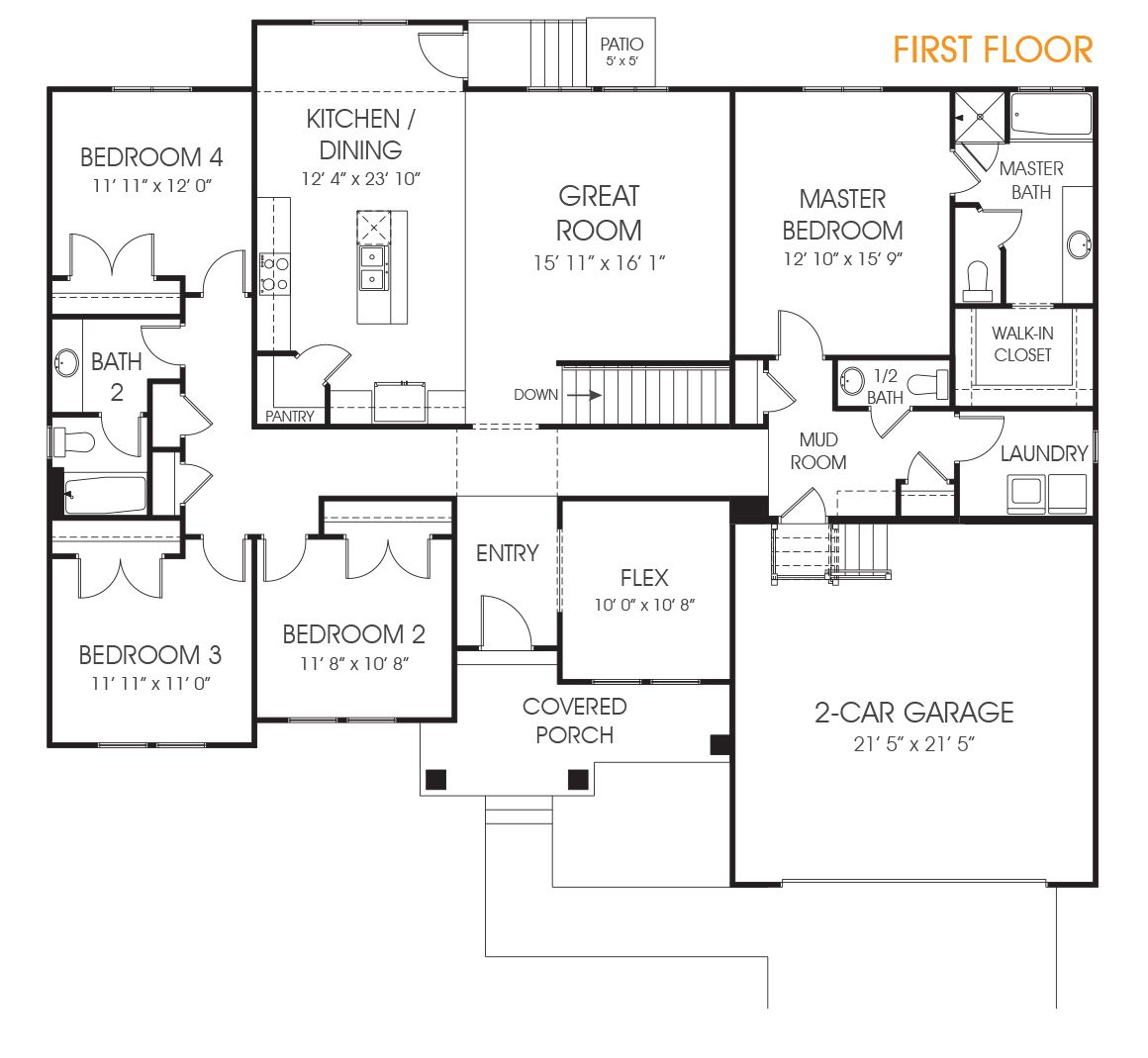 The Landon Is A Wonderful 4 Bedroom Rambler Floor Plan Perfect For Your New Utah Home Call Edge To Schedul Floor Plans Basement Floor Plans Garage House Plans