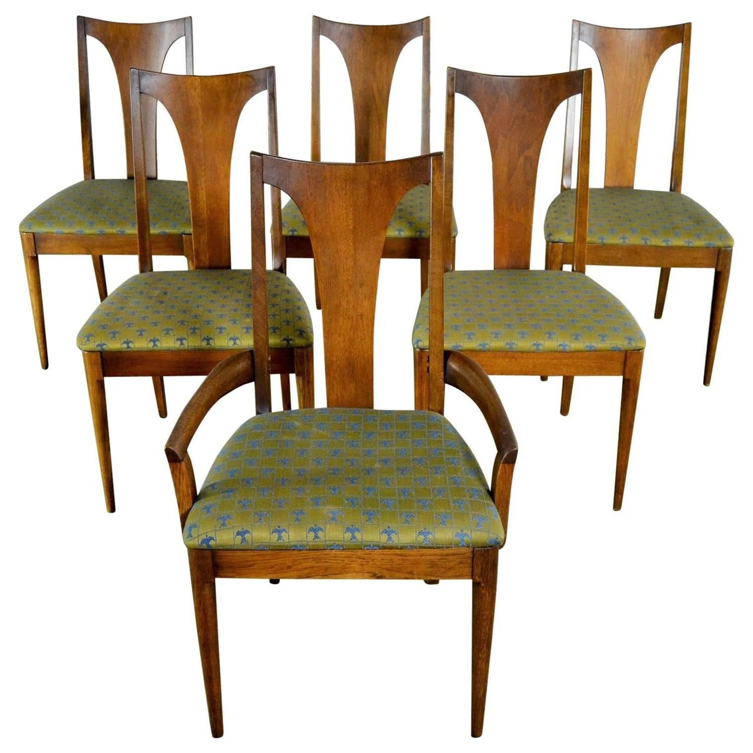 e3b7882633a8 Mid-Century Modern Broyhill Brasilia 6140-84   85 Single Splat Dining Chairs