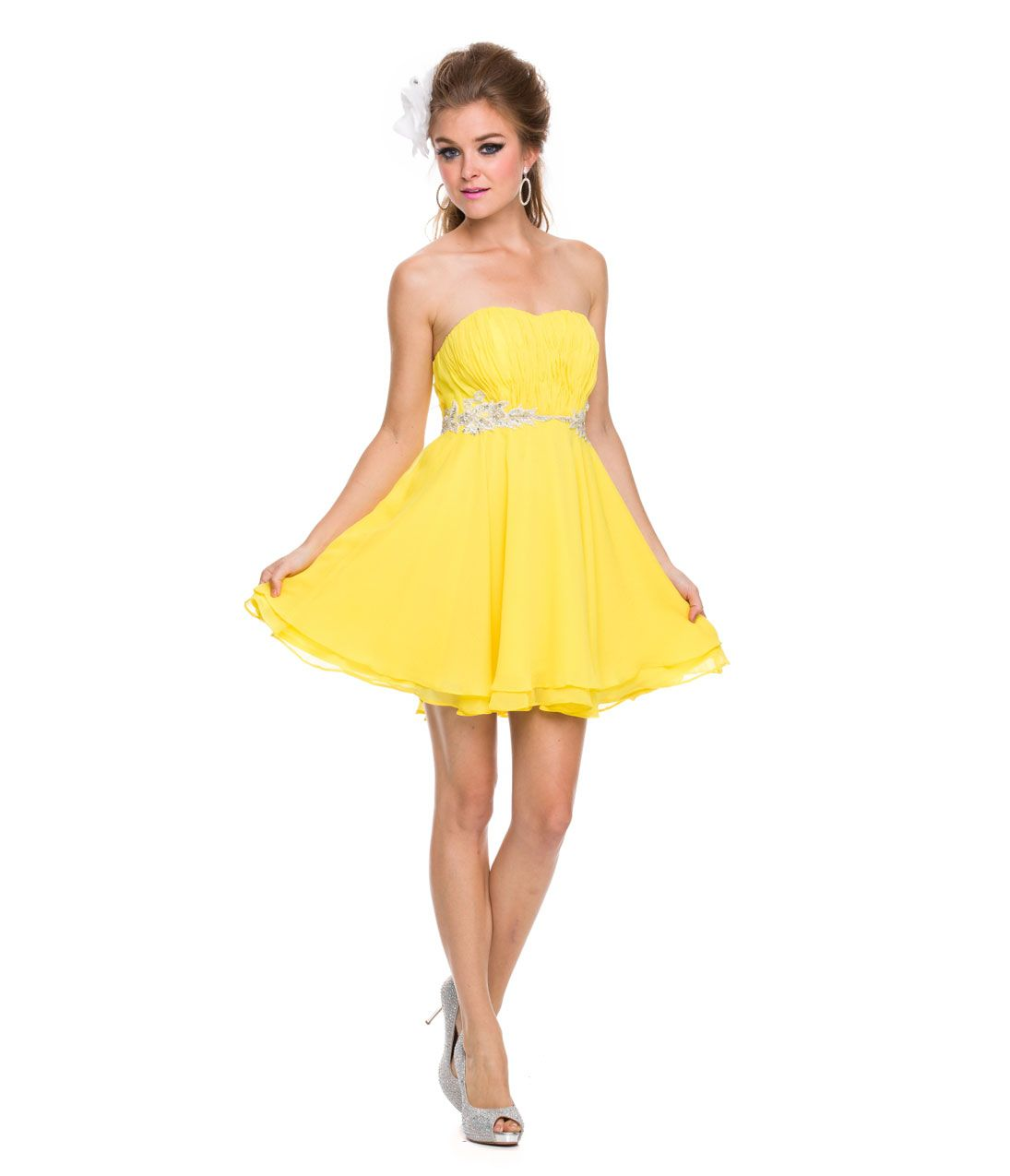 Yellow Prom Dress Short - Ocodea.com