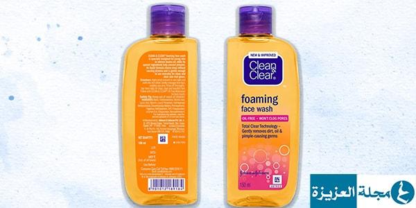 فوائد غسول كلين اند كلير للبشرة الدهنية وسعره مجلة العزيزة Foaming Face Wash Face Wash Shampoo Bottle