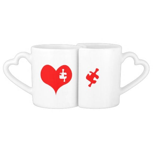 Heart Puzzle Lovers Mug