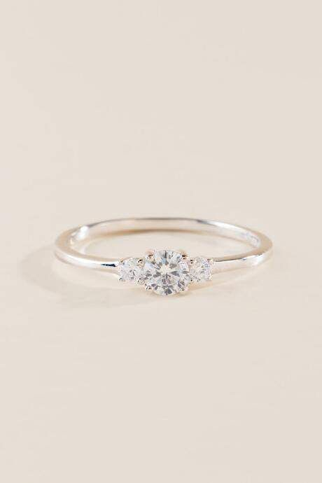 Francesca S Ruth Triple Cubic Zirconia Ring Silver Silver Wedding Rings Sterling Silver Jewelry Silver Jewelry