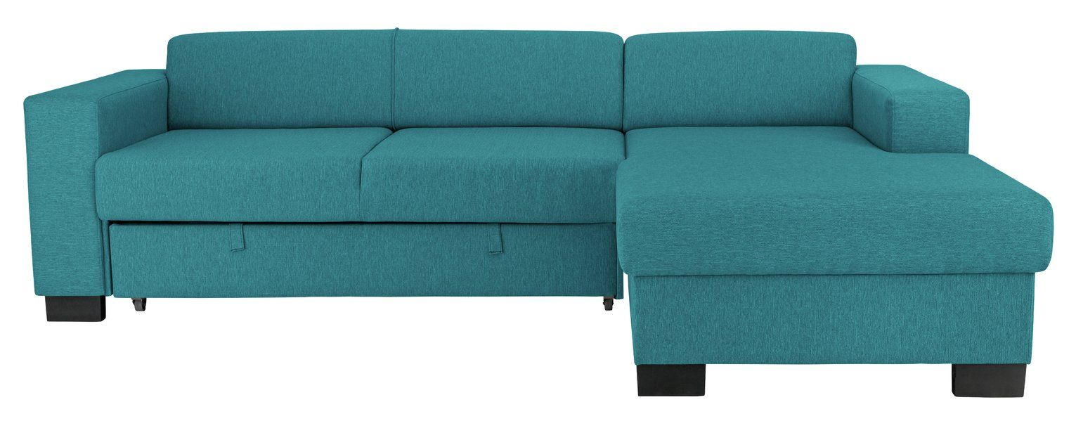 Argos Home Ava Fabric Corner Sofa Bed Teal In 2020 Sofa Bed Teal Corner Sofa Sofa Bed