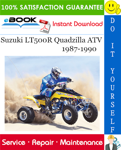 Suzuki Lt500r Quadzilla Atv Service Repair Manual 1987 1990 Download Repair Manuals Suzuki Atv