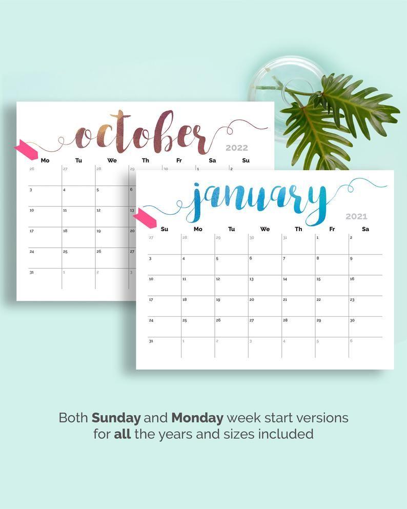 Large Printable Calendar 2022.Printable Calendar 2021 Large Wall Calendar 2021 2022 Calendar Etsy In 2021 Printable Calendar Wall Calendar Large Wall Calendar