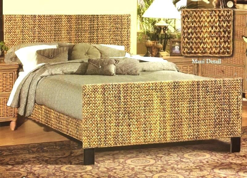 Wicker Bed Frames Rattan Frame Island Breeze Beds And Headboards By