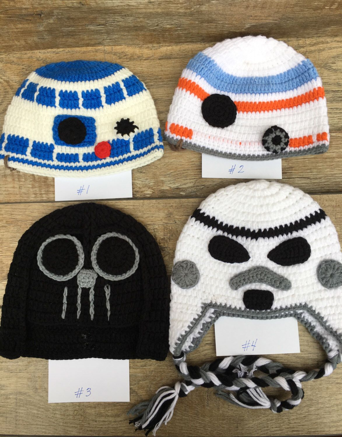 Star Wars Inspired Hats: Darth Vader, Storm Trooper, R2D2, BB8 by ...