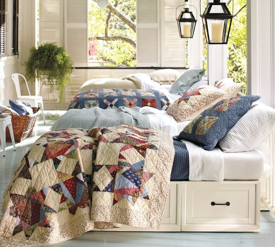 Stratton Storage Platform Daybed with Drawers Pottery Barn River