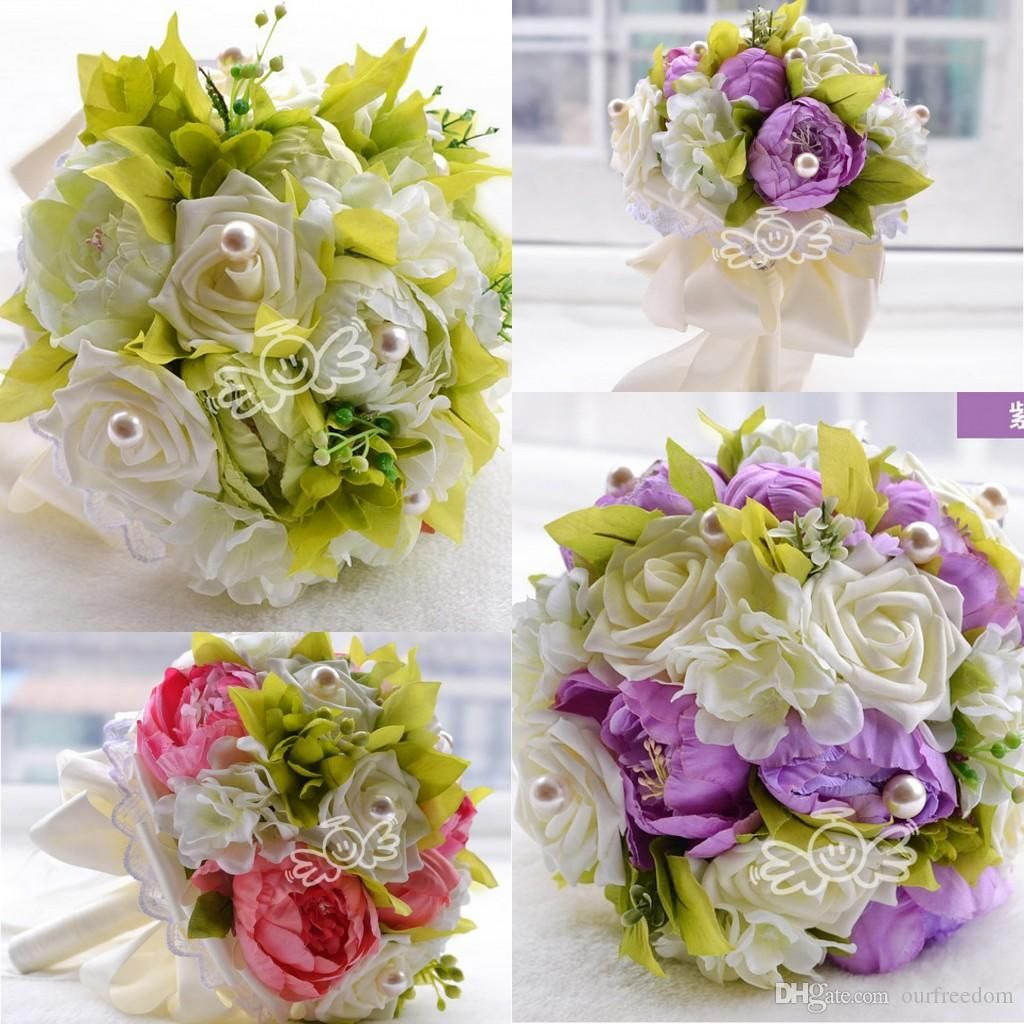 Wf071 Rustic Bridal Wedding Bouquet Wedding Decoration Artificial