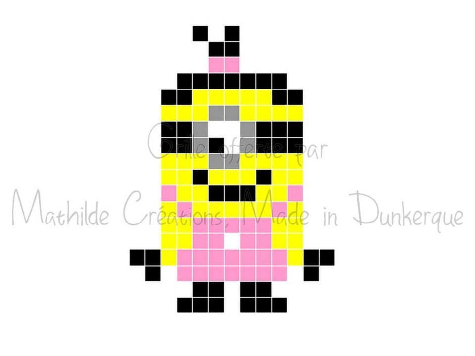 Grille moi moche et m chant n 1 grille pour crocheter un pixel plaid adapter les grannys - Mignon de moi moche et mechant ...
