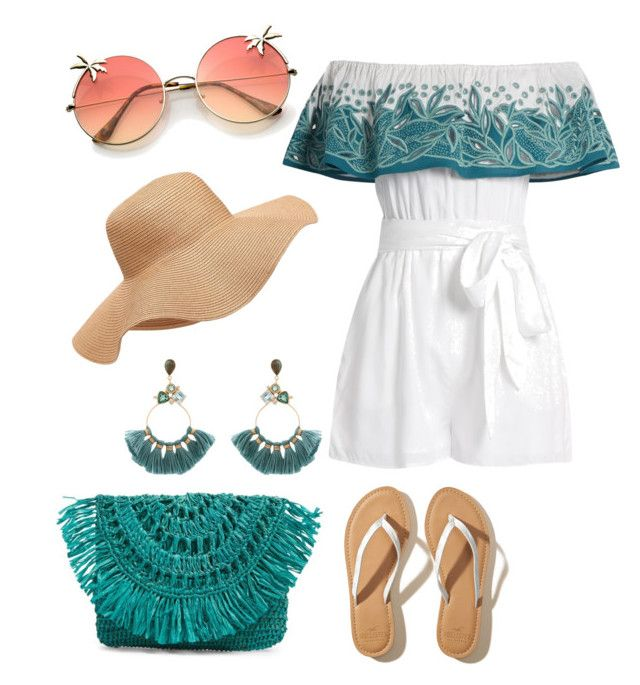 """Beach bound"" by lance4 on Polyvore featuring Mara Hoffman, Hollister Co., Mar y Sol, Old Navy and Atelier Mon"