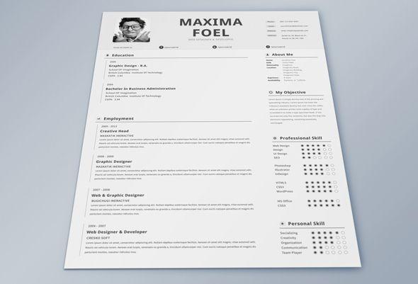 single page resume template freebie by simanto via behance