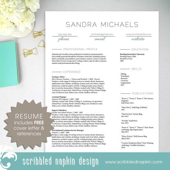 Resume template for writers Freelance writer resume with free - freelance resume template