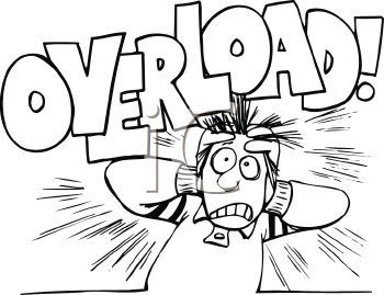 Being Stressed | ... Black and White Cartoon of a Stressed ...