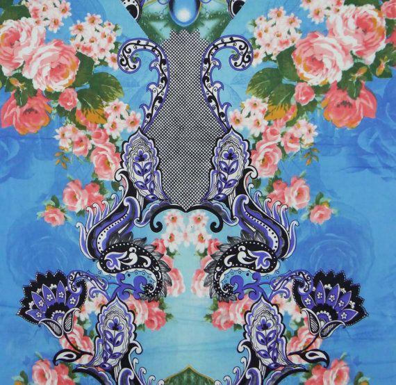 ITEM DESCRIPTION Fabric Pure Cotton Print Floral Color Blue Transparency Non Transparent Width 43 InchesApprox Is