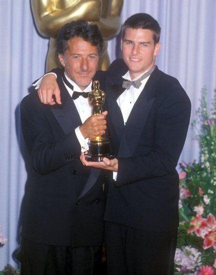 5/20/14 8:22p The Academy Awards Ceremony 1989: Dustin Hoffman Best Actor Oscar for ''Rain Man'' 1988 with Co-Star Tom Cruise