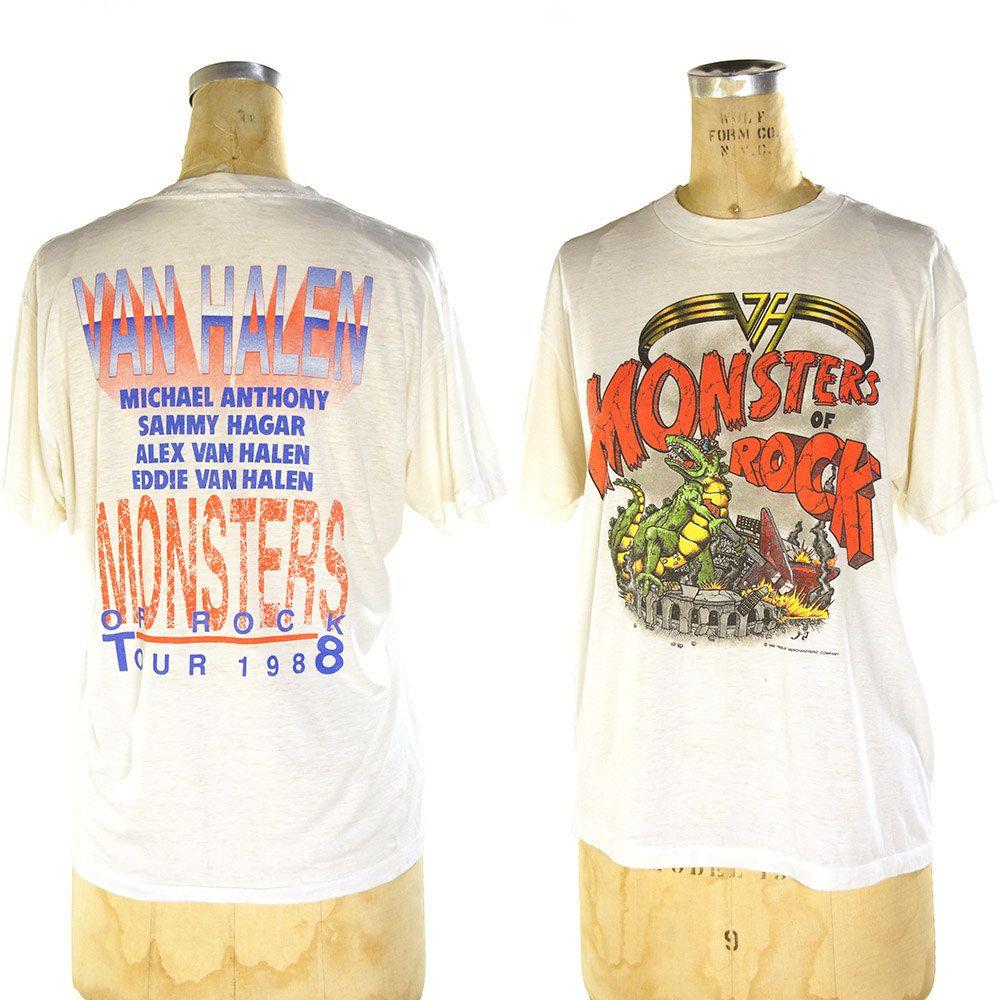 80s Van Halen Concert T Shirt Vintage 1988 Monsters Of Rock Tee Metallica Scorpions Dokken Sammy Hagar Authen Concert Tshirts Vintage Tees Vintage Blazer