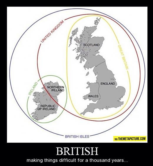 Finally I understand the difference… #britishisles