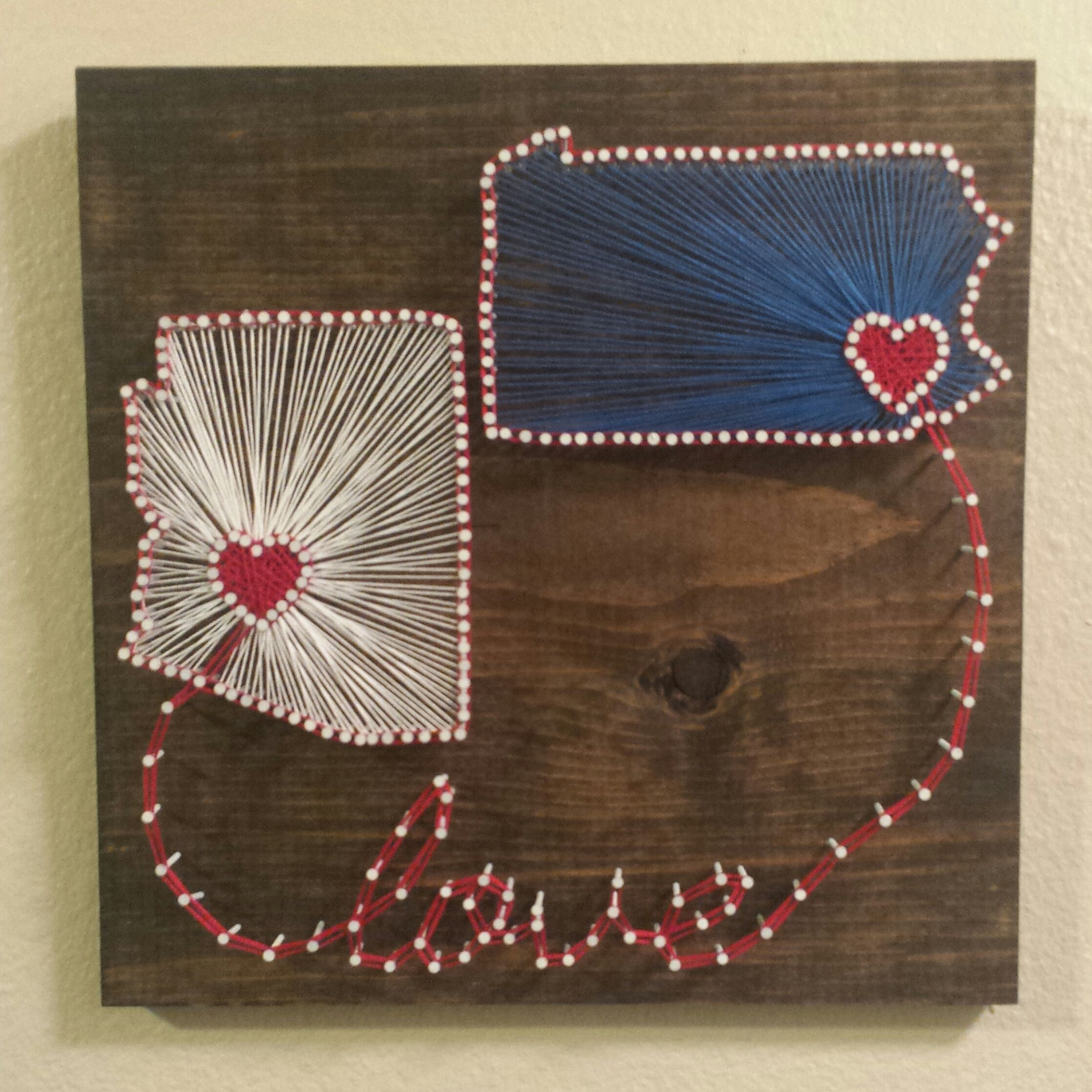 Arizona And Pennsylvania String Art With Love
