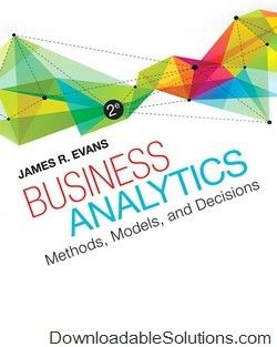 Solutions manual for business analytics 2nd edition evans download solutions manual for business analytics 2nd edition evans download answer key test bank fandeluxe