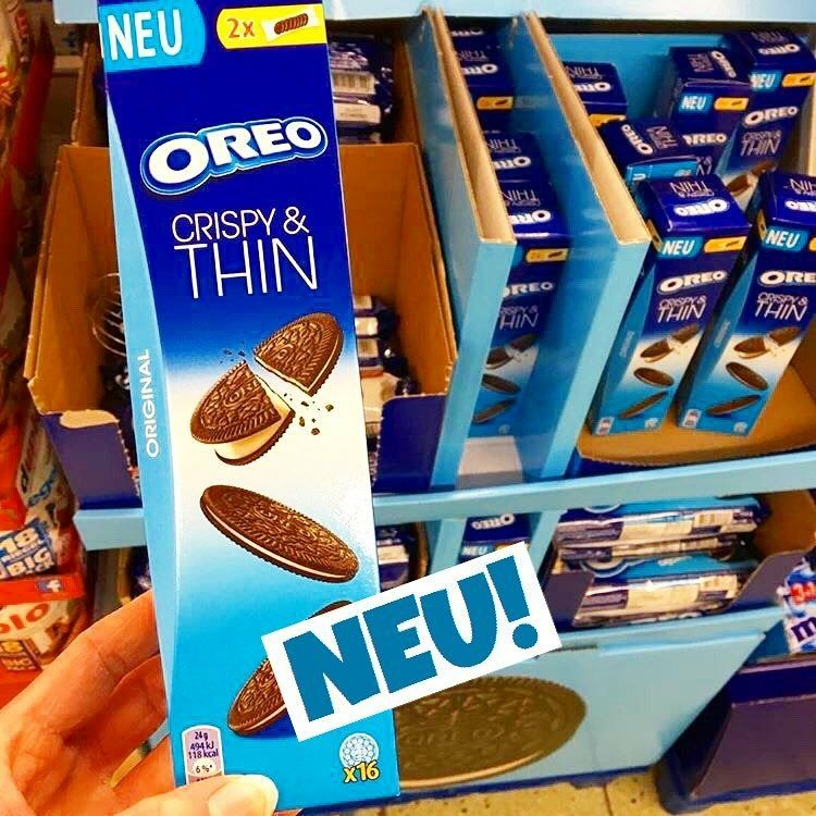 Oreo Crispy Thin Produktneuheit Lebensmittelneuheiten Neu