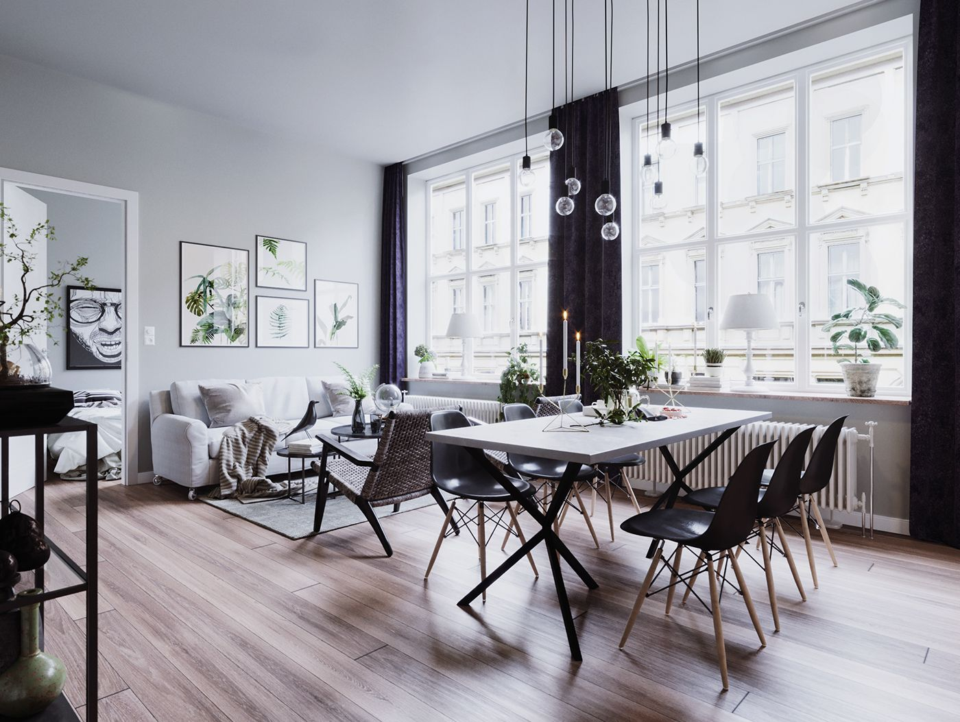 Scandinavian Style Sketchup Corona Render On Behance Scandinavian Style Home House Interior Decor Home