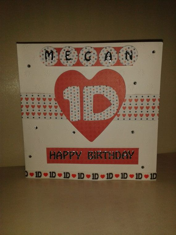 One Direction Birthday Card 1d Personalised By Clairescardboutique